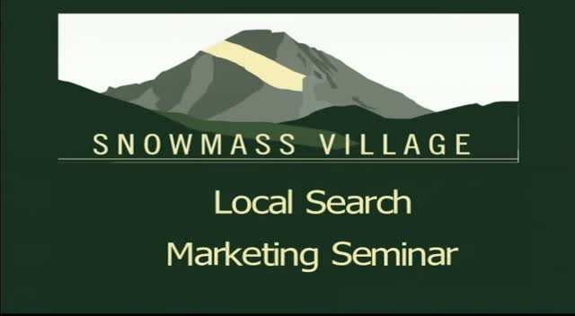 Snowmass Tourism Local Search Seminar