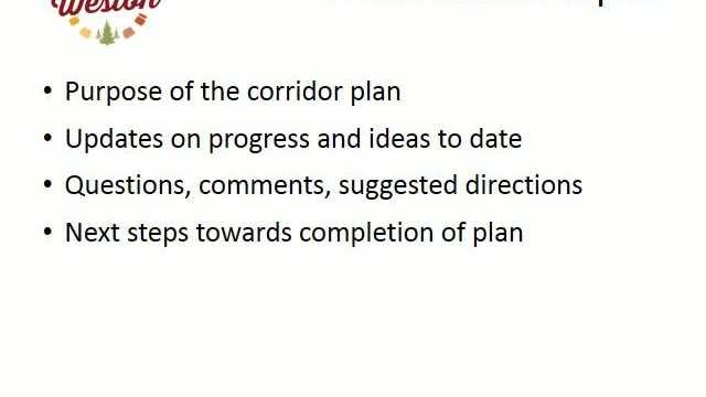 Camp Phillips Corridor Plan Presentation