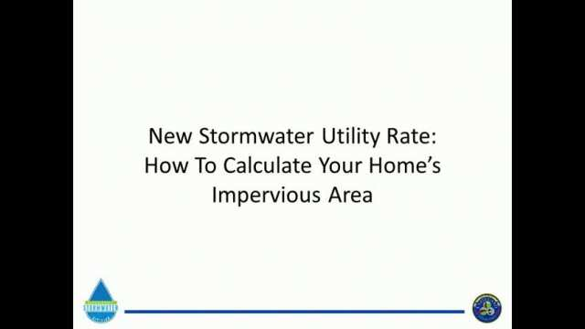 Stormwater Utility Billing Video