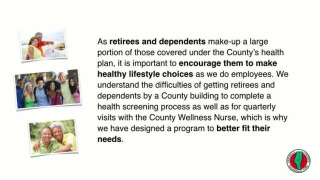 Wellness Requirements for Retirees and Dependents