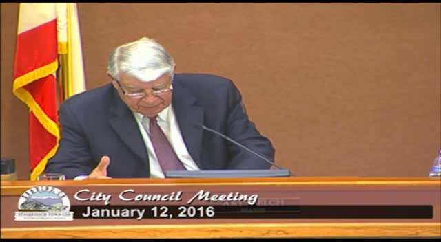 City Council Meeting 1/12/2016
