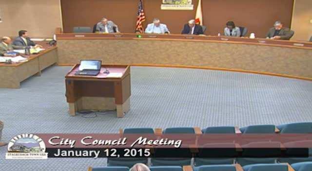 Council Workshop 1/12/16  Tax Alloc. Bond Proceeds