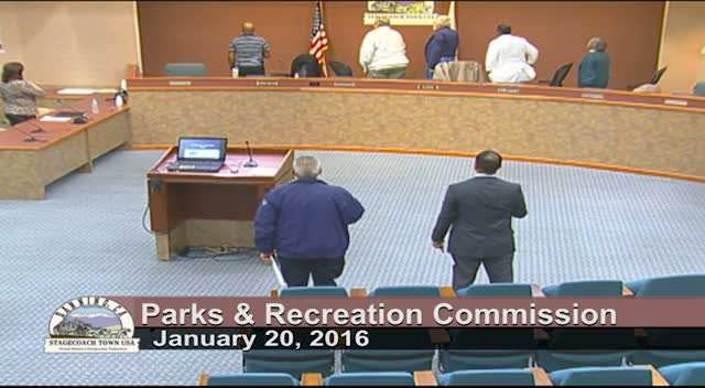 Parks and Recreation Meeting 1/20/2016