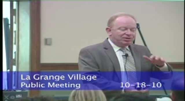 La Grange Board Meeting - 10/18/10
