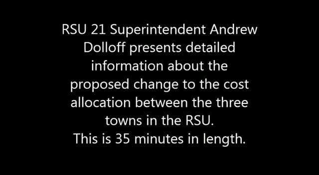 RSU 21 Cost Sharing