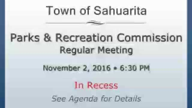 Parks and Recreation Commission Meeting November 2
