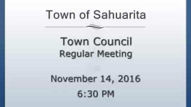 Town Council Meeting November 14. 2016