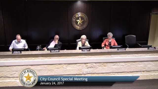 City Council Special Meeting - Jauary 24, 2017