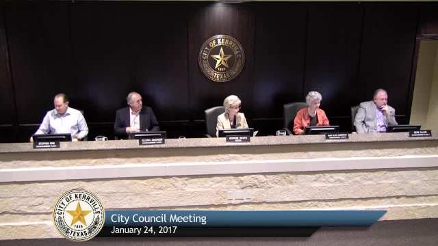 City Council Meeting - January 24, 2017