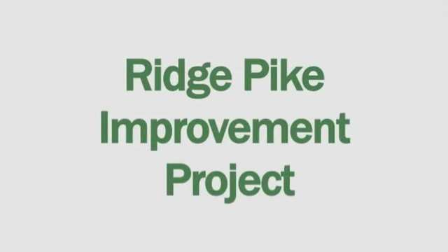 Ridge Pike Improvement Project M-1 June 2016