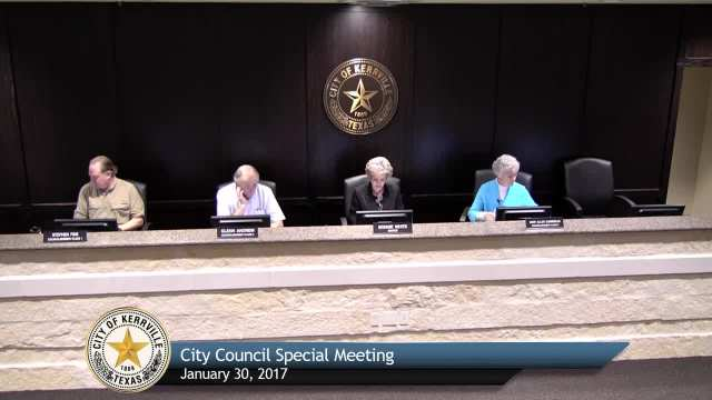 Special City Council Meeting - January 30, 2017