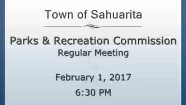 Parks and Recreation Commission February 1, 2017