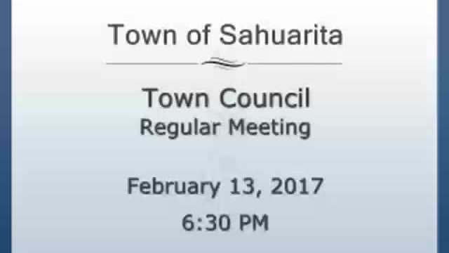 Town Council Meeting February 13, 2017