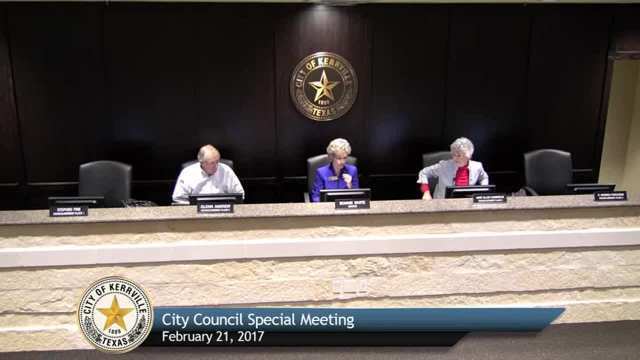 Special City Council Meeting - February 21, 2017
