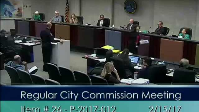 Chief Sanchez Presents at Commission Meeting