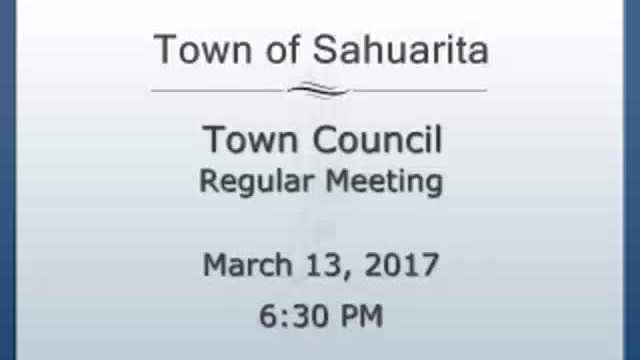 Town Council Meeting March 13, 2017