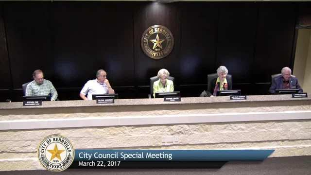 Special City Council Meeting - March 22, 2017