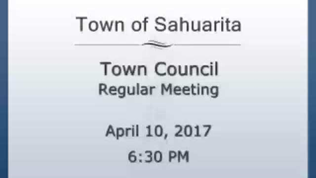 Town Council Meeting April 10, 2017