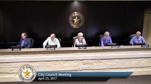 City Council Meeting - April 25, 2017