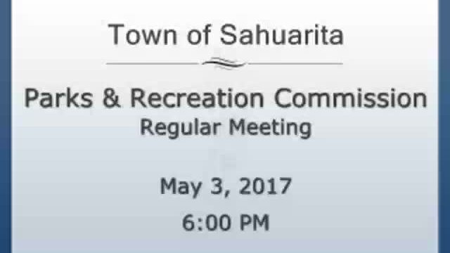 Parks and Recreation Commission May 3, 2017