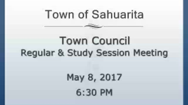 Town Council Meeting May 8, 2017