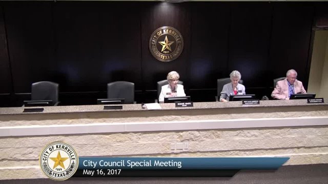 City Council Special Meeting - May 16, 2017