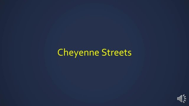 State Of Cheyenne Streets 2017