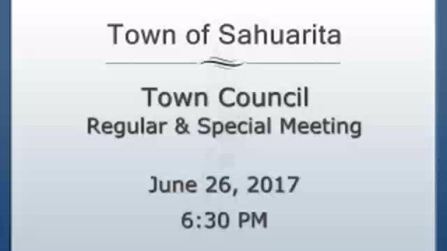 Town Council Meeting June 26, 2017