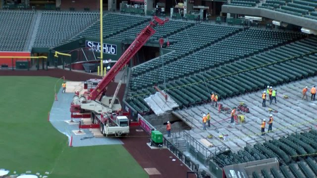 Chase Field Repair Work, Fall 2017
