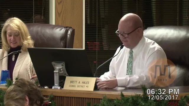 Council Meeting - December 5, 2017