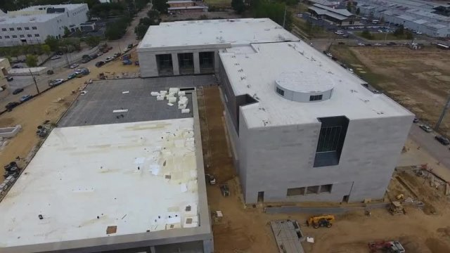 Drone Footage Construction of Civil Rights Museum