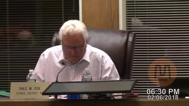 Council Meeting - February 6, 2018