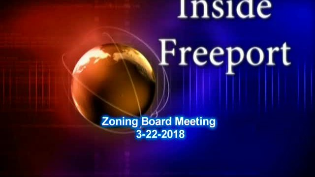 Zoning Board Meeting 3-22-2018