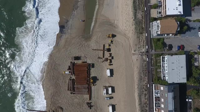 Flyover of Beach Replenishment 6-12-2018
