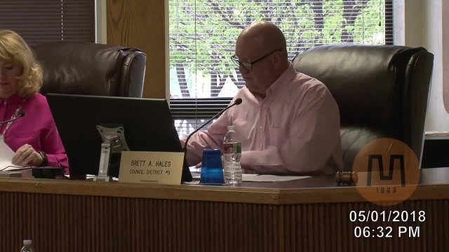 Council Meeting - May 1, 2018
