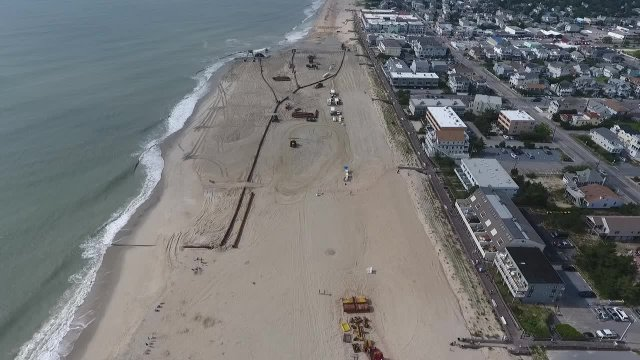 Flyover of Beach Replenishment 6-19-2018