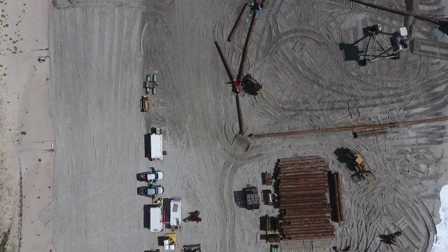 Flyover of Beach Replenishment 6-25-2018
