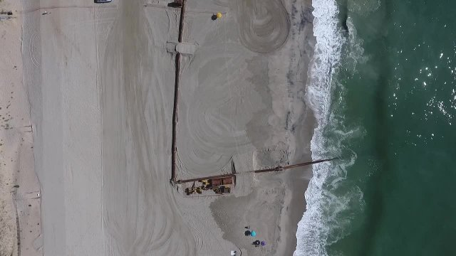 Flyover of Beach Replenishment 6-29-2018