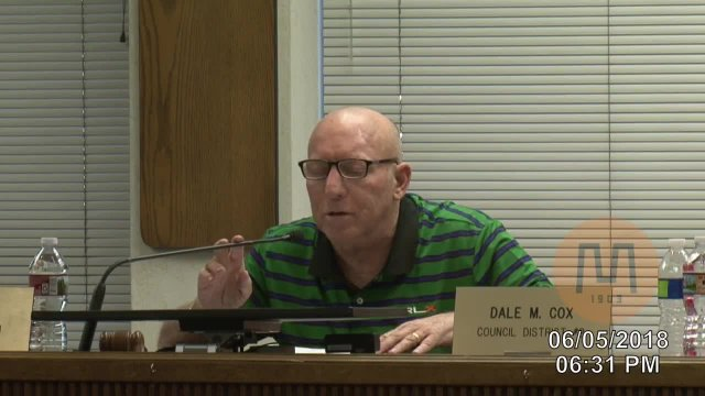 Council  Meeting - June 5, 2018