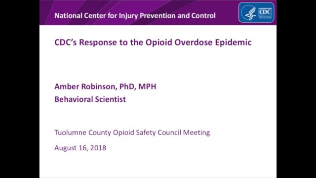 Opioid Conference - Dr. Amber Robinson