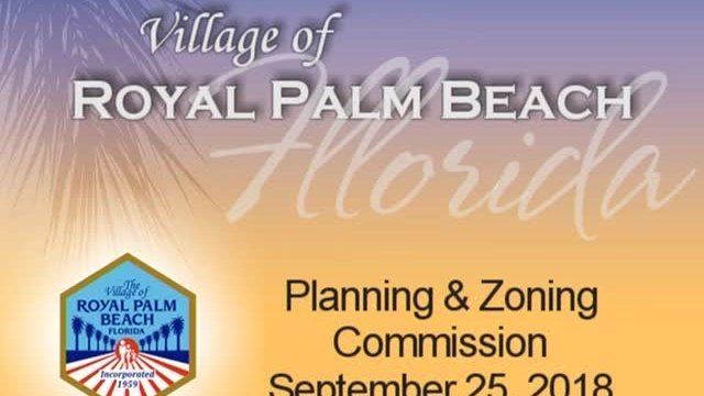 Planning and Zoning - September 25, 2018