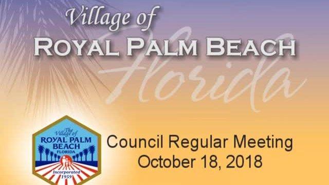 Council Meeting - October 18, 2018