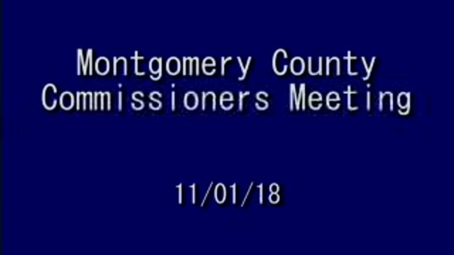 11/01/2018 Commissioners Meeting