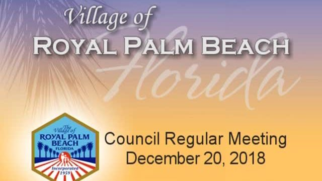 Council Meeting - December 20th, 2018