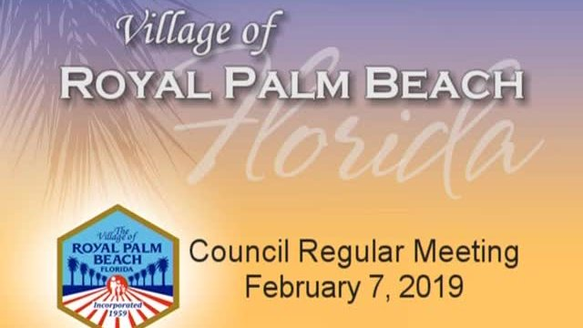 Council Meeting - February 7, 2019