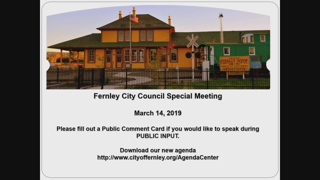 City of Fernley City Council Meeting 03-14-2019