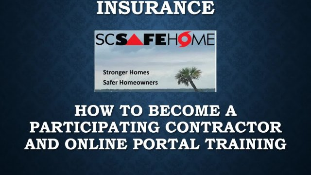 SC SafeHome Contractor Training