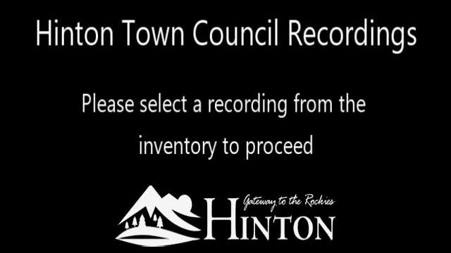 Hinton Town Council Recordings