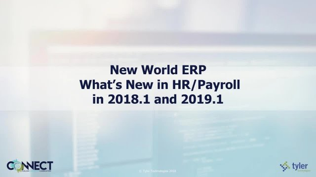 Whats New in HR
