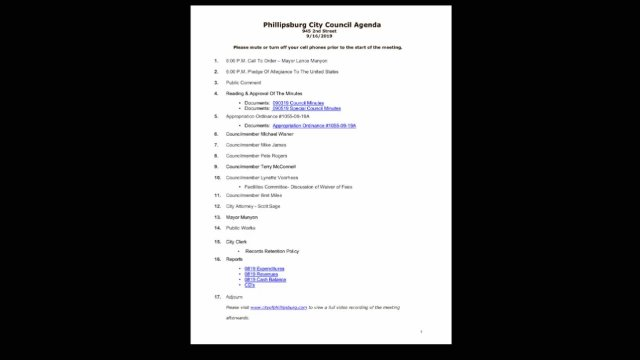 09/16/19 City Council Meeting